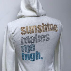 "Rare e.vil ""Sunshine Makes Me High"" Sweatshirt Top"